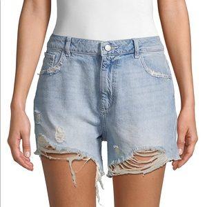 DL1961 Hepbrun High-Rise Distressed Denim Shorts